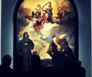 "Marino Tiziano ""Sacred conversation 1520"""